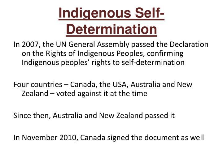 Indigenous Self-Determination