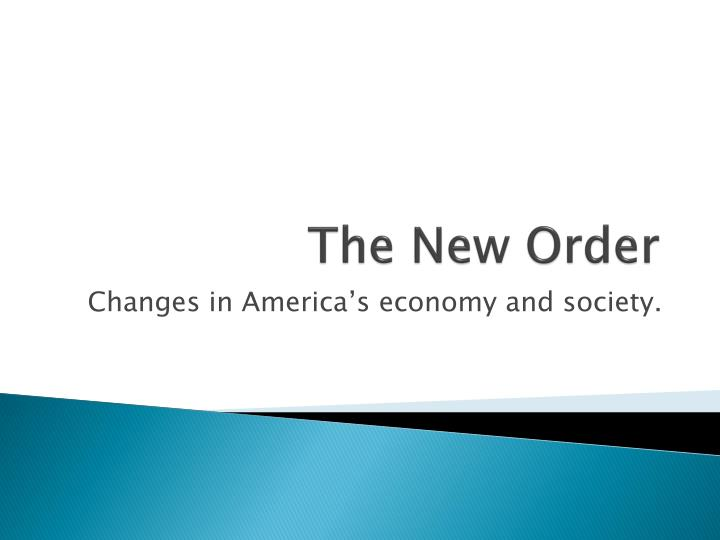 the new order n.