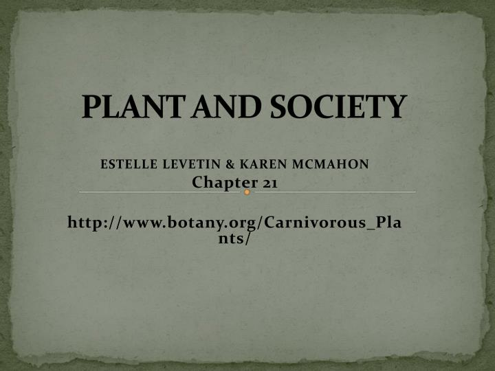 plant and society n.