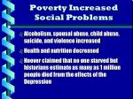 poverty increased social problems