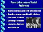 poverty increases social problems