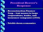 president hoover s response1