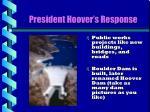 president hoover s response2