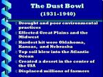 the dust bowl 1931 1940