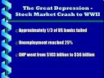 the great depression stock market crash to wwii