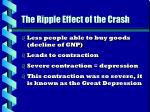 the ripple effect of the crash