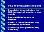 the worldwide impact