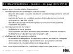 2 2 recommandations sociales par pays 2012 20131