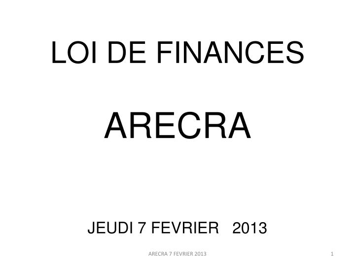 loi de finances n.