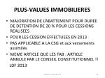 plus values immobilieres1