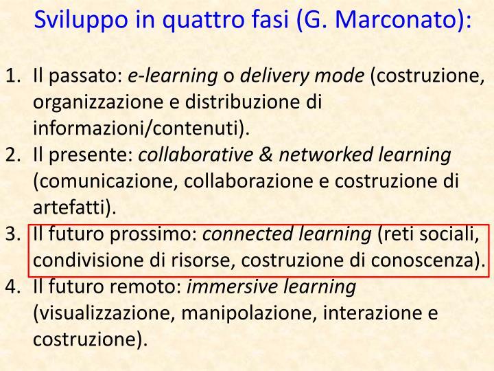 Sviluppo in quattro fasi (G. Marconato):