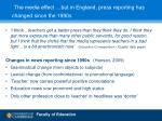 the media effect but in england press reporting has changed since the 1990s