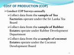 cost of production cop