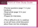 point of view study guide