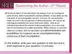 questioning the author 2 nd round