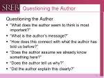 questioning the author1