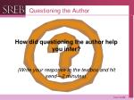 questioning the author2