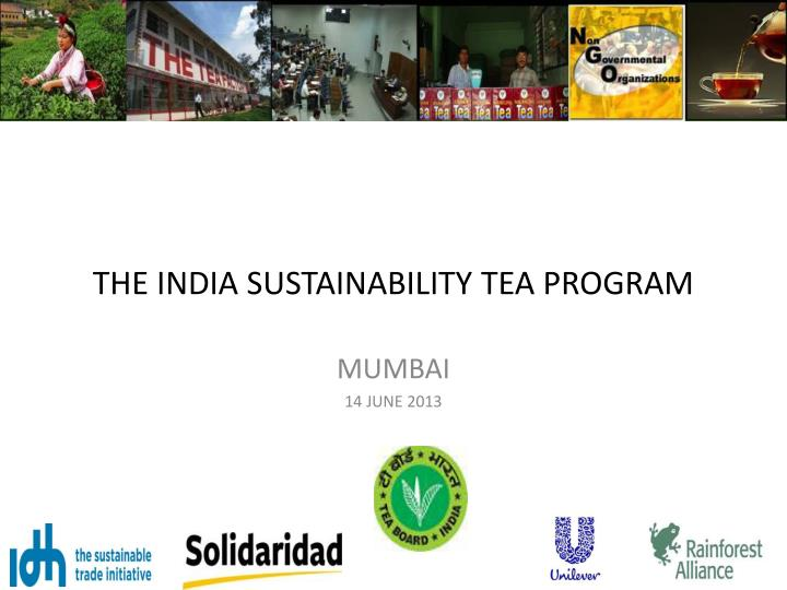 the india sustainability tea program n.