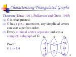 characterizing triangulated graphs3