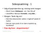 sideops tning 1