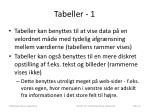 tabeller 1