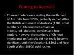coming to australia