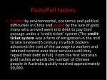 push pull factors