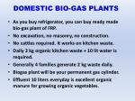 domestic bio gas plants