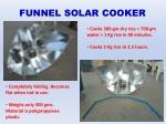 funnel solar cooker