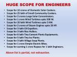 huge scope for engineers