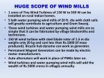huge scope of wind mills
