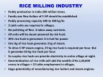 rice milling industry