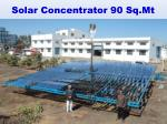 solar concentrator 90 sq mt