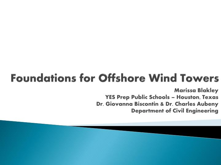 foundations for offshore wind towers n.