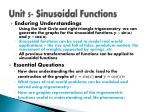 unit 5 sinusoidal functions
