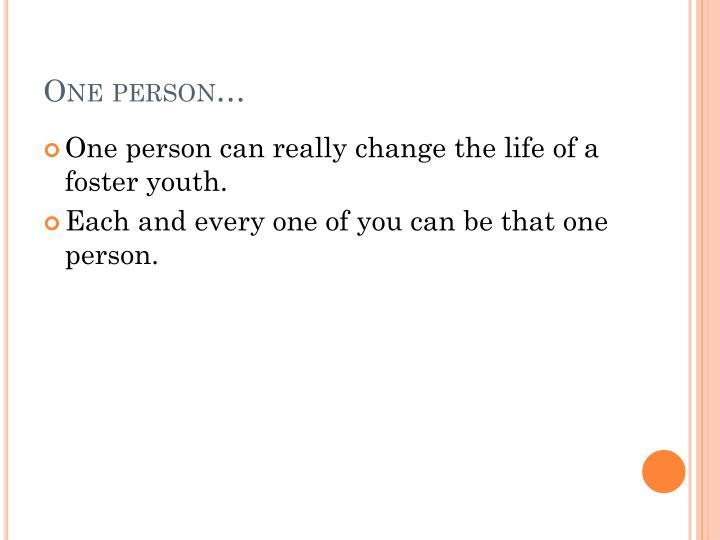 One person…