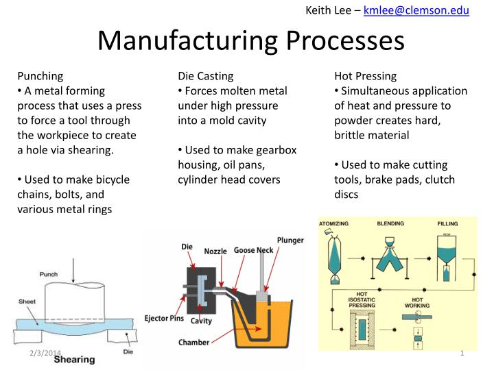 PPT - Manufacturing Processes PowerPoint Presentation - ID