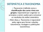 sistem tica e taxonomia1