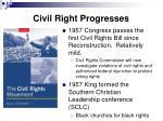 civil right progresses