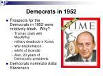 democrats in 1952
