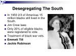 desegregating the south