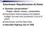 eisenhower republicanism at home