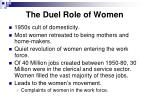 the duel role of women