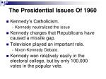 the presidential issues of 1960