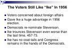 the voters still like ike in 1956