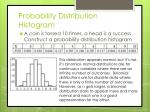 probability distribution histogram
