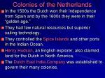 colonies of the netherlands