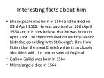 interesting facts about him