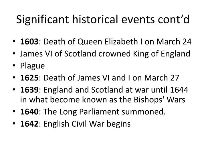 Significant historical