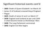 significant historical events cont d
